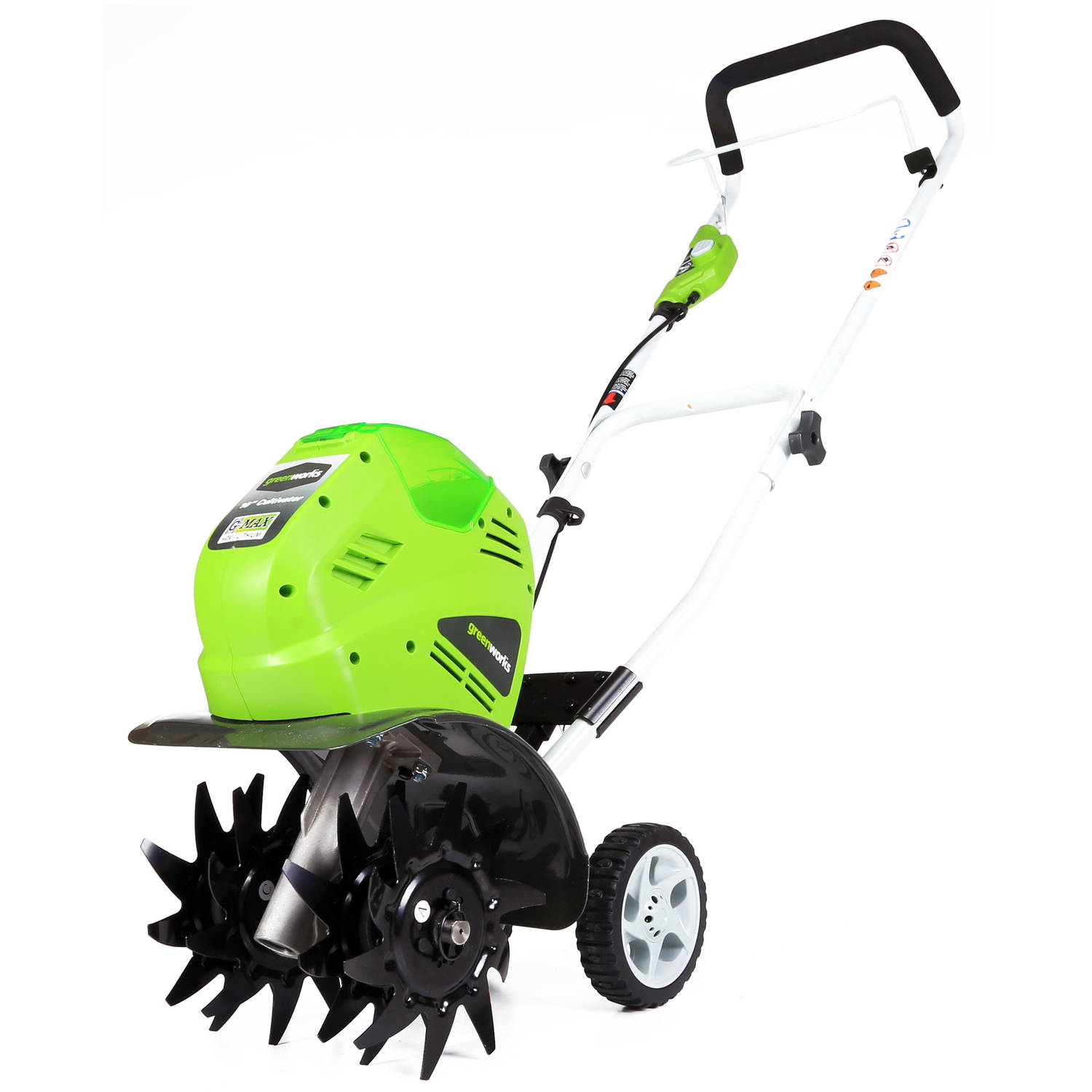 "GreenWorks 27062A 40V 10"" Cordless Cultivator, Battery and Charger Sold Separately"