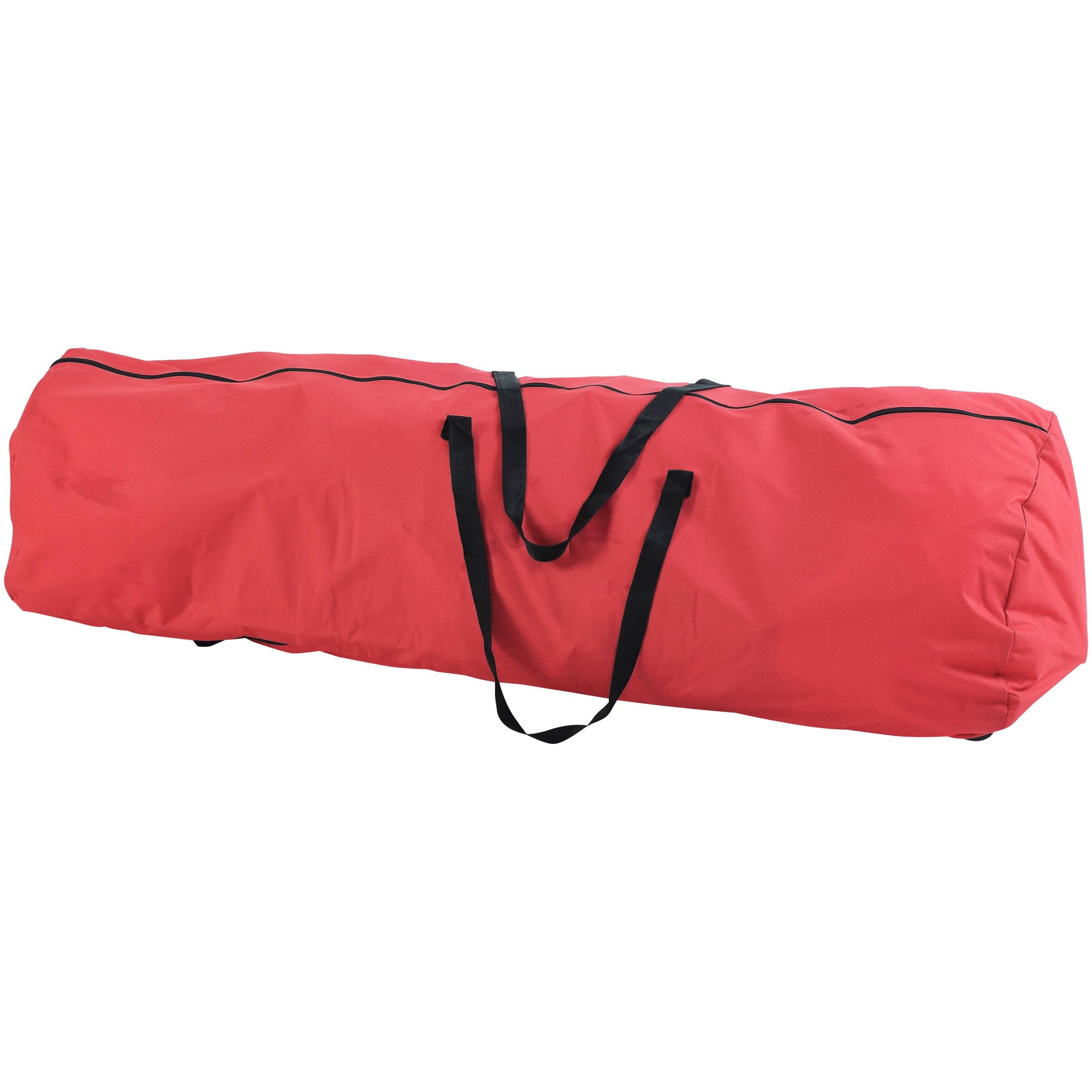 Holiday Time 7.5 Ft. Artificial Tree Rolling Storage Bag, Red With Black  Handles