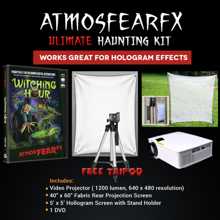 Halloween Atmosfearfx Witching Hour Projector Kit, 1900 Lumen Projector with 800 x 460 Resolution