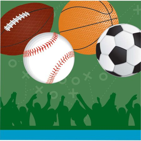 Sports Party Luncheon Napkins (16 Pack) - Party Supplies