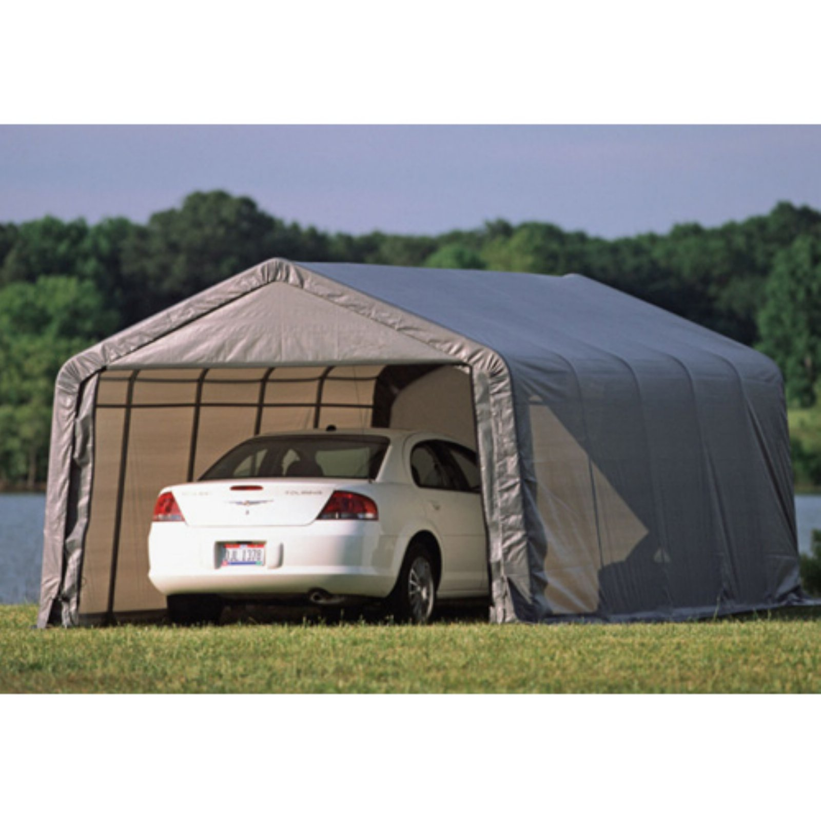 Shelterlogic 13' x 20' x 10' Round Style Shelter, Green