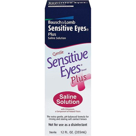 Bausch & Lomb Sensitive Eyes Plus Saline Solution, 12.0 FL oz