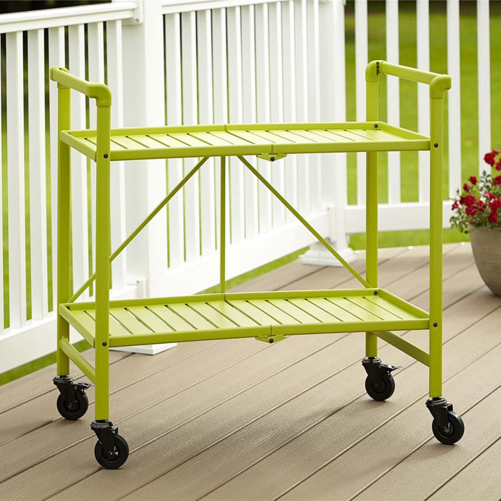 Cosco Metal Slat Folding Serving Cart by Cosco