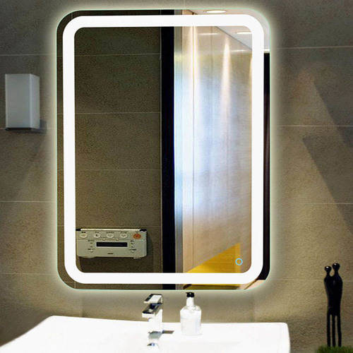 Fab Glass and Mirror Wall Mounted High Quality LED Lighted Vanity Mirror by Fab Glass and Mirror