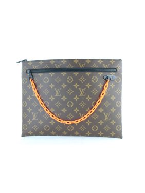 4439f5d364 Product Image PRE-OWNED Pochette Ss19 Virgil Abloh Monogram Chain 2lj0111  Brown Coated Canvas Clutch. Louis Vuitton