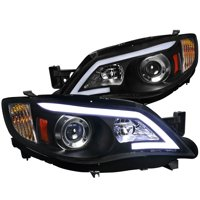 Spec-D Tuning For 2008-2011 Subaru Impreza Outback Led Projector Headlights Black Wrx 2008 2009 2010 2011 (Left+Right)