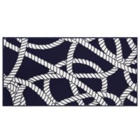 Evolur Home Belmar Nautical Nursery Rug 55'x31.5' In Navy With White