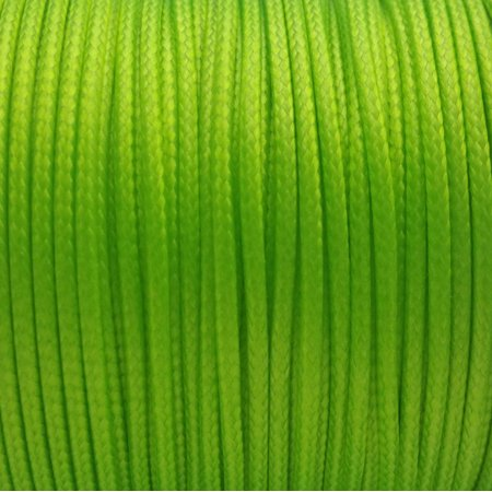 5 YARDS - 2MM Lime Bright Green Woven Braided Waxed Nylon Cording Trim