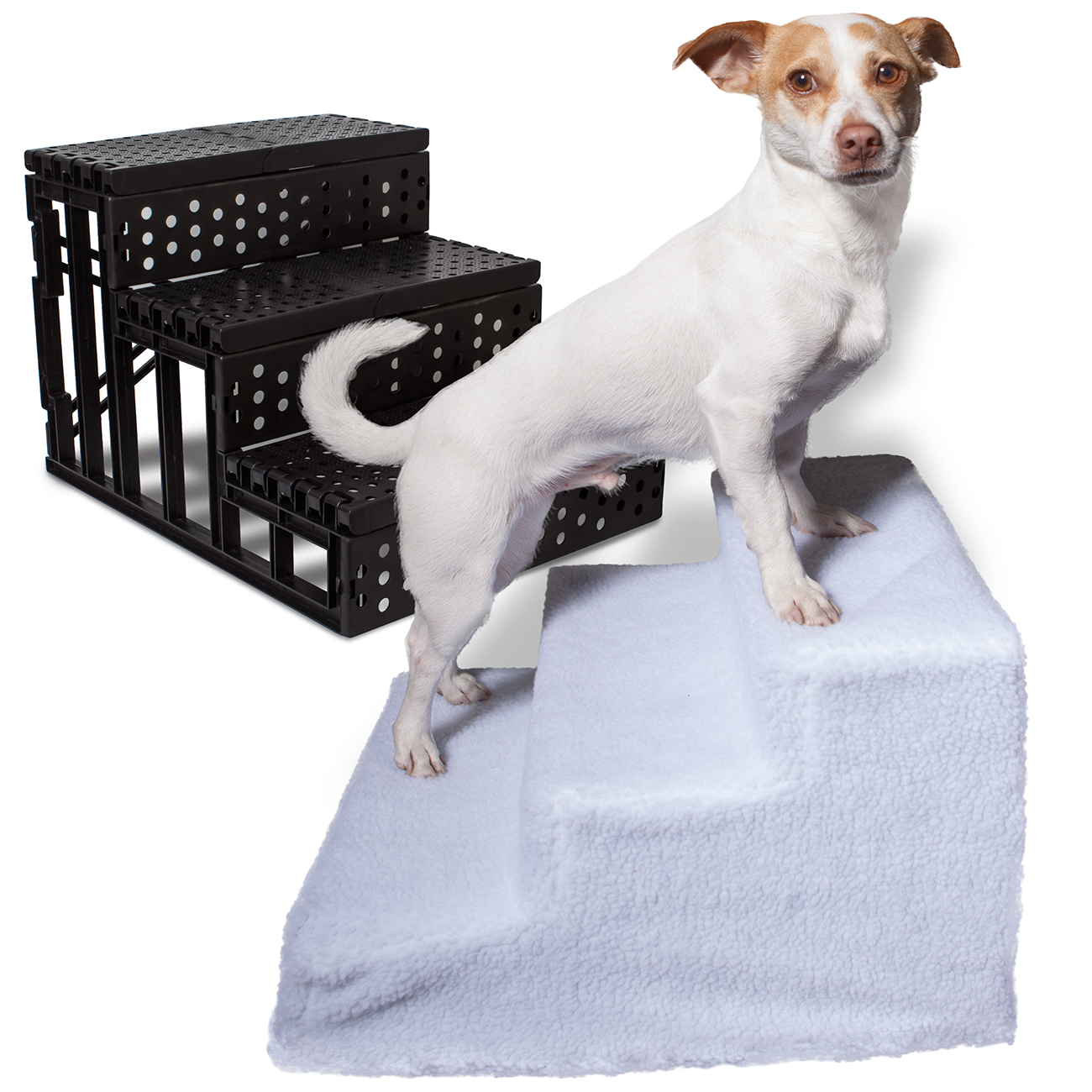 OxGord Dog Pet Stairs Steps Indoor Ramp Portable Folding Animal Cat Ladder  With Cover   Walmart.com