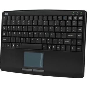 Adesso SlimTouch 410 USB Mini Touchpad Keyboard, Black