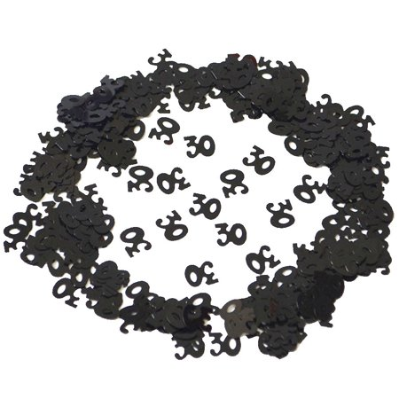 Black Birthday Confetti 30 40 50 60 70 80 Age Number Party Decor](Party City 30 Birthday)