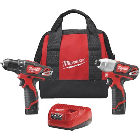Milwaukee M12 Lithium-Ion Drill & Impact Cordless Tool Combo Kit
