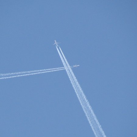 Canvas Print Jets Blue Flying Sky Contrails Crossing Planes Stretched Canvas 10 x 14 - Jets Flying