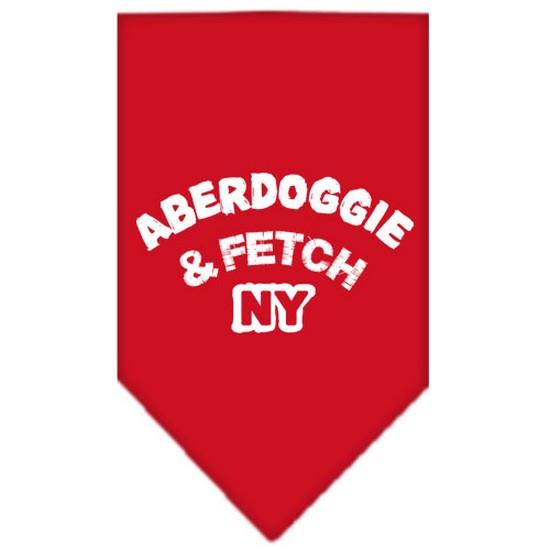 Aberdoggie NY Screen Print Bandana Red Small