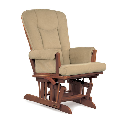 Shermag Glider Rocker Chablis Finish with Camel Cushion