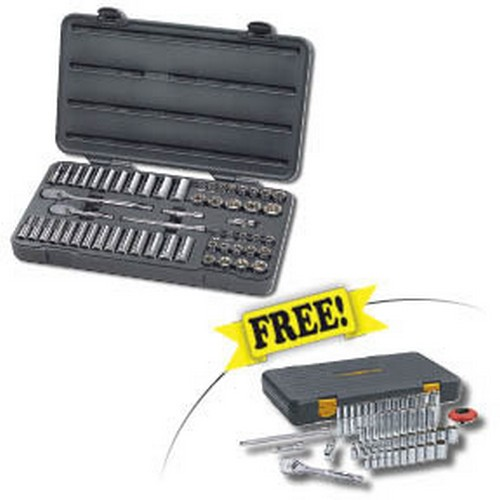 "Gearwrench 80550F 57 Pc. 3/8"" Drive 6-Point SAE/Metric Socket Set w/FREE 51 Pc. 1/4"" Drive 6-Point Socket Set"