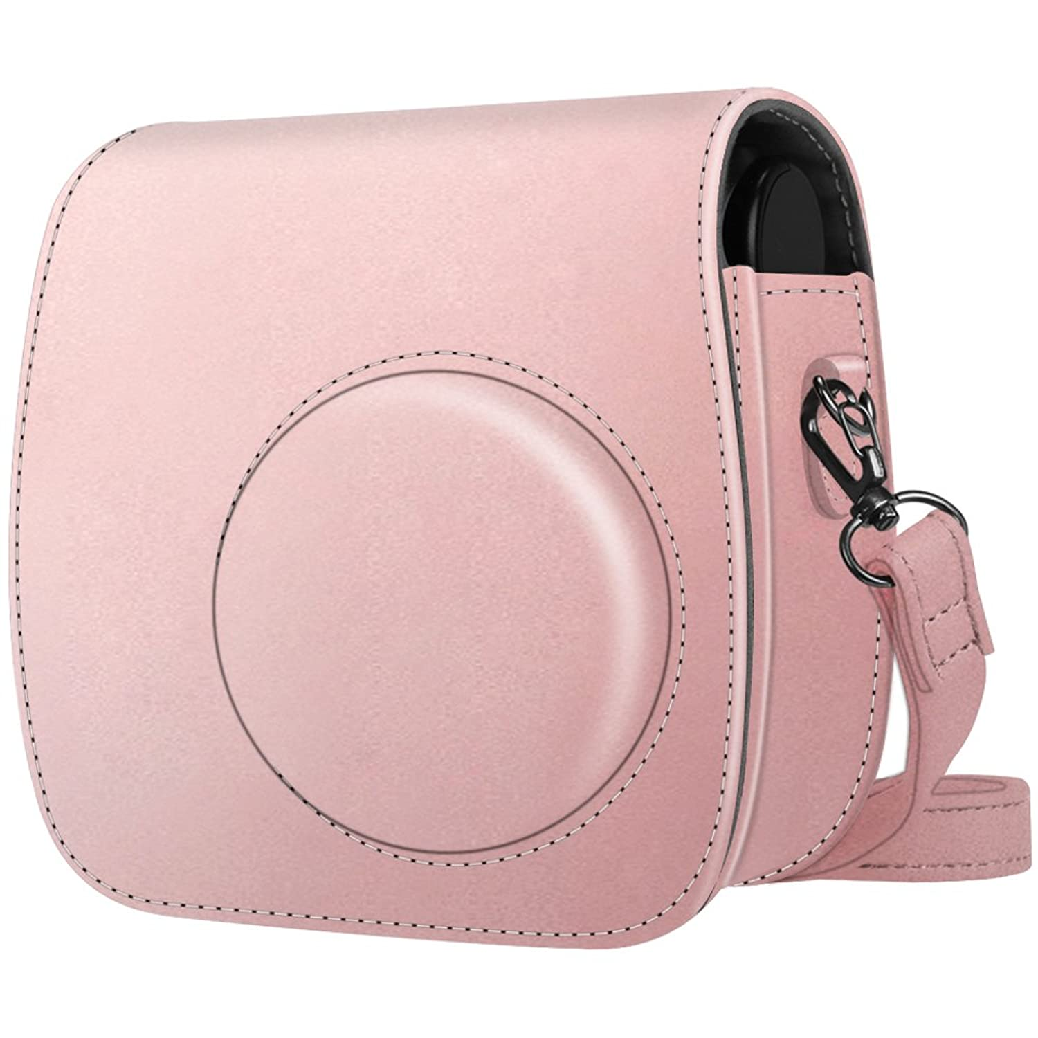 Premium Vegan Leather Bag Cover with Removable Strap Fintie Protective Case Compatible with Polaroid PIC-300 Rose Gold Fujifilm Instax Mini 7s Instant Film Camera