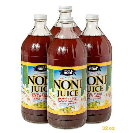 Healing Noni™ Organic Noni Juice Pure Farm Direct (Four 32oz bottles per case) -