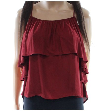 Lush NEW Red Women's Size Medium M Popover High Low Tank Cami Top