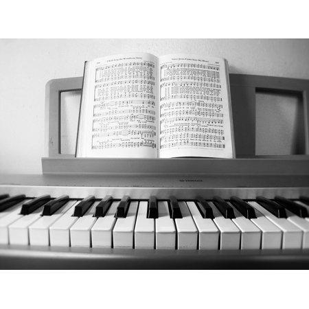 LAMINATED POSTER Keyboard Keys Hymnbook Piano Song Music Notes Poster Print 24 x - Halloween Theme Song Keyboard Notes
