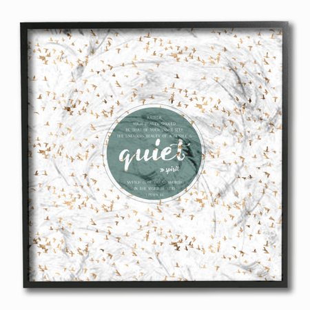 Stupell Industries Etchlife Presents Quiet Spirit Flock Of Birds Framed Textual Art Print On Canvas