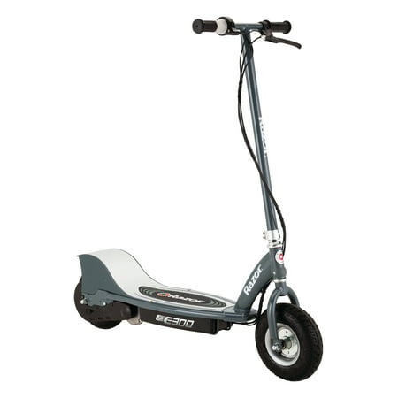 "Razor E300S Seated Electric Scooter - 9"" Air-filled Tires, Removable Seat, Up to 15 mph and 10 Miles Range"