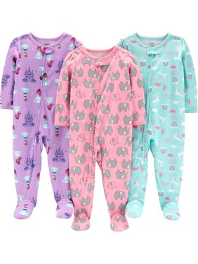 889d9e417 Product Image Child of Mine by Carter's One piece footed poly pajamas, 3pk ( baby girls &