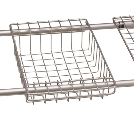 Mainstays Under the Sink Metal Storage Shelf, Satin Nickel