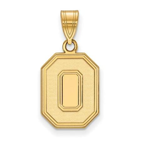 Ohio State Football Pendant - Ohio State Medium (5/8 Inch) Pendant (Gold Plated)