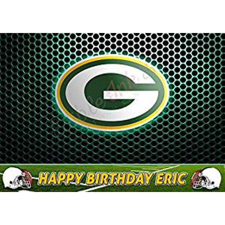 Green Bay Packers NFL Edible Cake Image Topper Personalized Icing Sugar Paper A4 Sheet Edible Frosting Photo Cake 1/4 Edible Image for cake