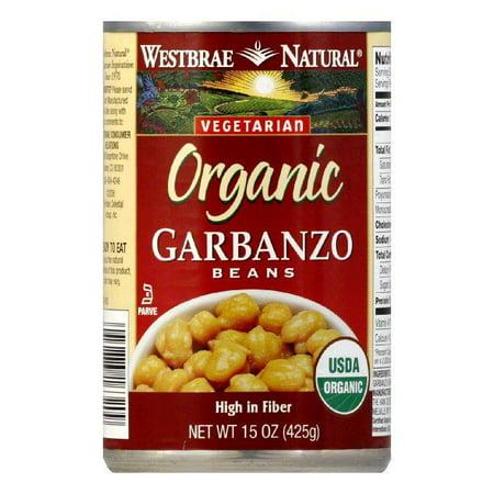 Westbrae Beans Garbanzo Low Fat Organic, 15 OZ (Pack of 12)