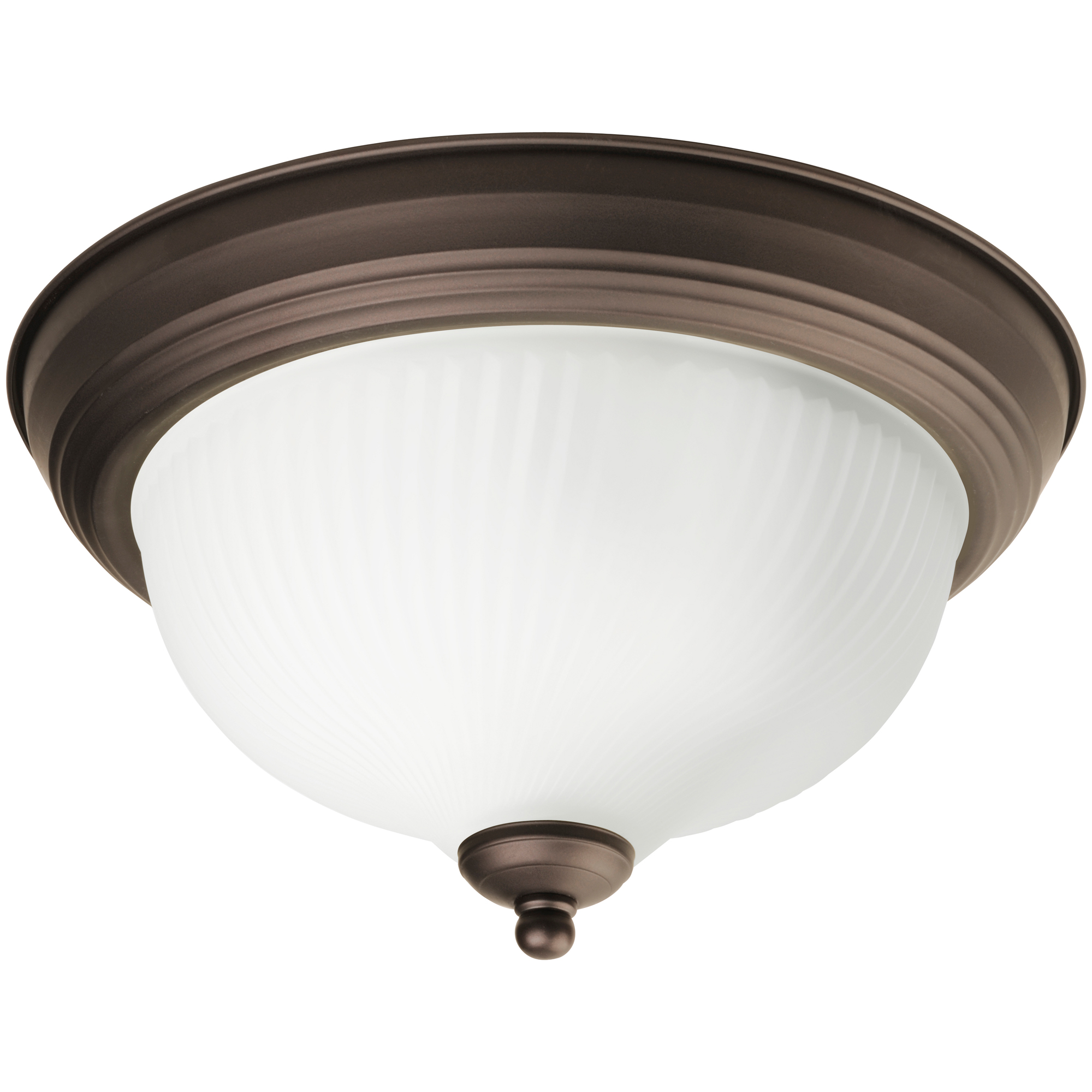 "Chapter 11"" Decorative Indoor Ceiling Flushmount w/ LED Bulbs, Oil Rubbed Bronze"