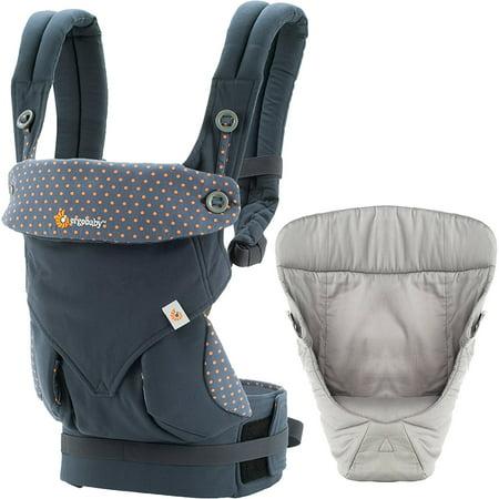Ergo Baby Four Position 36 Carrier Blue Easy Snug Insrt Grey - Ergo Baby Insert