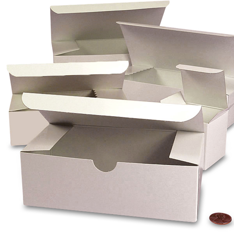 "100ea - 4 X 4 X 6 White High Gloss Gift Box Width 4"" by Paper Mart"