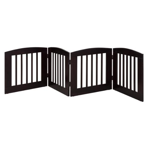 RuffLuv 4-panel Expansion Pet Gate Cappuccino Medium 24-inch