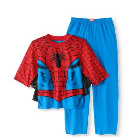 One Piece Pajama Halloween Costumes (Spider-Man Boys' Costume Play 2 Piece Pajama Sleep Set (Big Boys & Little)