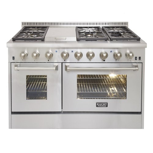 Kucht Professional 48'' Free-standing Dual Fuel Range with Griddle