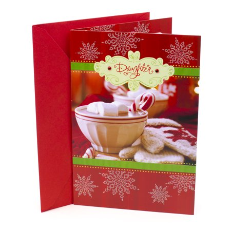 Hallmark Christmas Card for Daughter (Cocoa and Snowflakes) ()