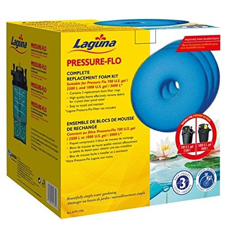 PT1500/1725 Pressure Flo Foam, Laguna Pressure-Flo Replacement Foams, 3-pack for Pressure-Flo 3000/1000 By Laguna
