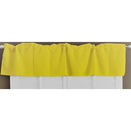 lovemyfabric 100% Polyester Poplin Solid Kitchen Curtain Tier/Valance Window Treatment