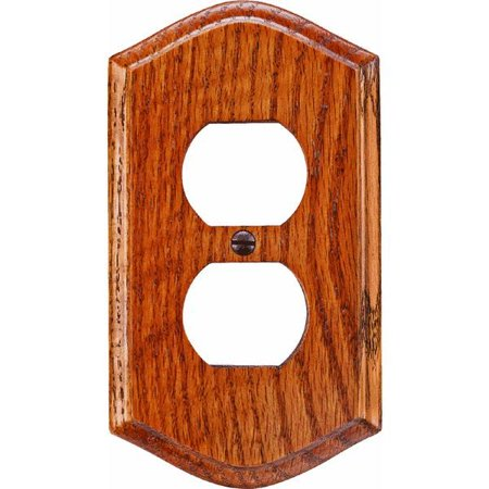Country Oak Outlet Wall Plate