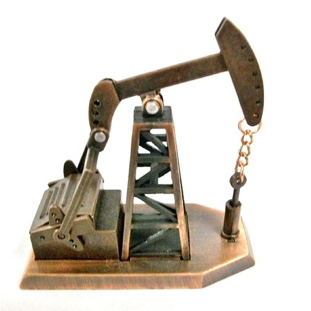 Gold Oil Derrick - Oil Derrick Die Cast Metal Collectible Pencil Sharpener