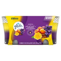 Glade 2in1 Jar Candle Air Freshener, Jubilant Rose & Lavender & Peach Blossom, 6.8oz, 2 ct