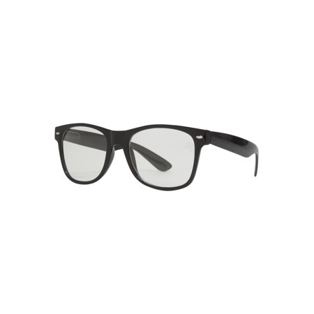 Gravity Shades Horn-Rimmed Clear Sunglasses