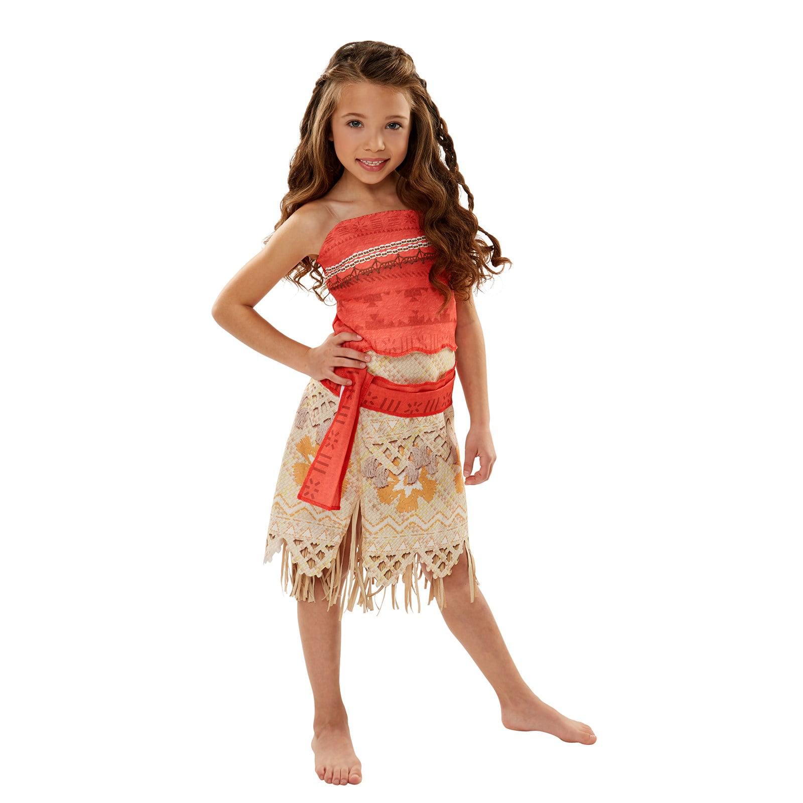 Disneys Moana Adventure Costume For Kids Walmart
