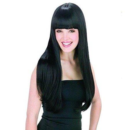 Hair Style In Walmart : AGPtek New style black Fashion Long straight womens Girl full Hair ...