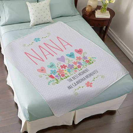 Personalized Heart Garden Plush Blanket