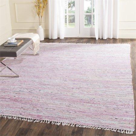"Safavieh Rag 2'3"" X 5' Hand Woven Cotton Rug in Light Pink - image 1 de 3"