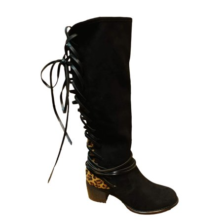 Corky 39 s footwear corkys boutique footwear women 39 s annabel blackleopard lace up back dress for Corky s garden center