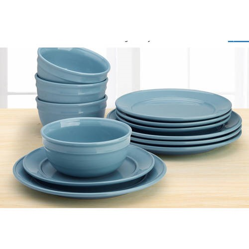 This button opens a dialog that displays additional images for this product with the option to zoom in or out.  sc 1 st  Walmart.com & Mainstays Amelia 12-Piece Solid Color Dinnerware Set - Walmart.com